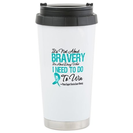 Bravery - Ovarian Cancer Ceramic Travel Mug