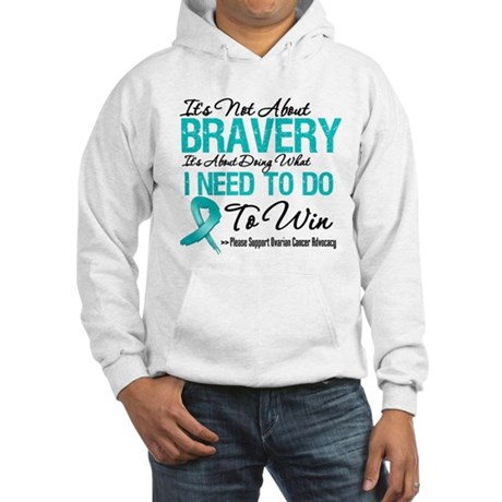 Bravery - Ovarian Cancer Hooded Sweatshirt