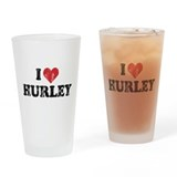 I Heart Hurley Pint Glass