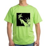 Statue of Liberty /Support Troops Green T-Shirt