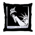 Statue of Liberty /Support Troops Throw Pillow