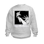 Statue of Liberty /Support Troops Kids Sweatshirt
