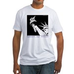 Statue of Liberty /Support Troops Fitted T-Shirt