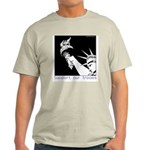 Statue of Liberty /Support Troops Ash Grey T-Shirt