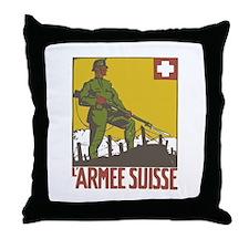 Swiss Army Throw Pillow