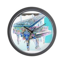 """Voodoo Piano #3"" Wall Clock"