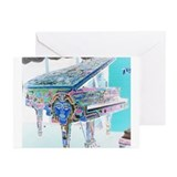 """Voodoo Piano #3"" Greeting Cards (Pk of 10)"