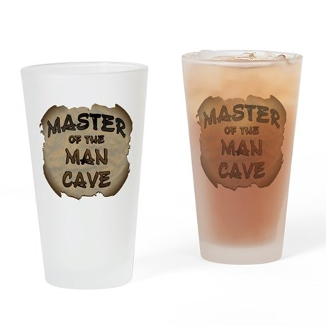 Master Of The Man Cave Drinking Glass