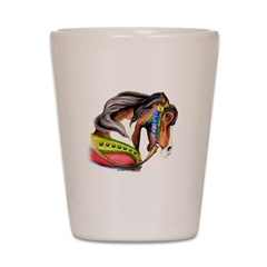 Pinto Carousel Horse Shot Glass