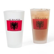 Albania Albanian Flag Pint Glass