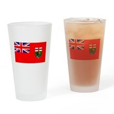 Manitoba Manitoban Blank Flag Pint Glass