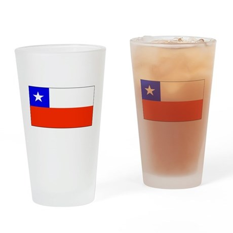 Chile Blank Flag Pint Glass