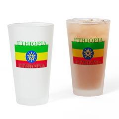 Ethiopia Ethiopian Flag Pint Glass
