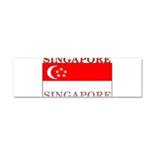 Singapore Flag Car Magnet 10 x 3