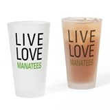 Live Love Manatees Pint Glass