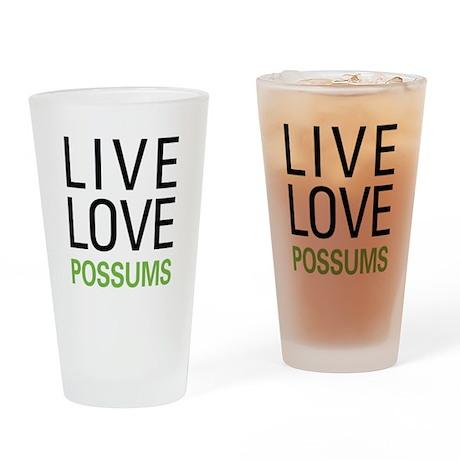 Live Love Possums Pint Glass