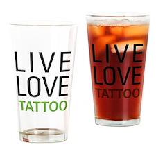 Live Love Tattoo Pint Glass