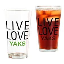 Live Love Yaks Pint Glass