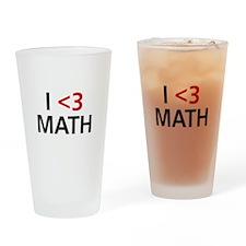 I <3 Math Drinking Glass