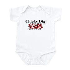 Chicks Dig Scars Onesie