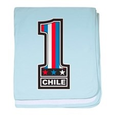 Number One Chile baby blanket