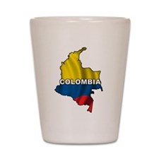 Map Of Colombia Shot Glass