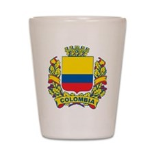 Stylish Colombia Crest Shot Glass