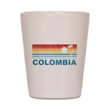 Retro Colombia Palm Tree Shot Glass