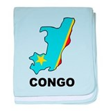 Map Of Congo baby blanket