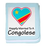 Happily Married Congolese baby blanket