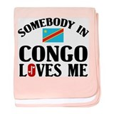 Somebody In Congo baby blanket
