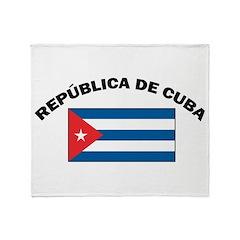 República de Cuba Throw Blanket