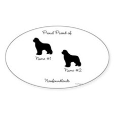 2 Newfoundlands Decal