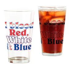 I Bleed Red White Blue Pint Glass