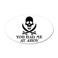 Ahoy Pirate 38.5 x 24.5 Oval Wall Peel