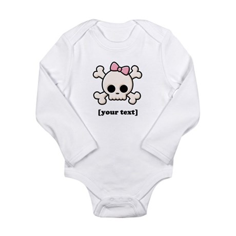 [Your text] Cute Skull Girl Long Sleeve Infant Bod