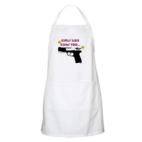 Girls like guns too BBQ Apron
