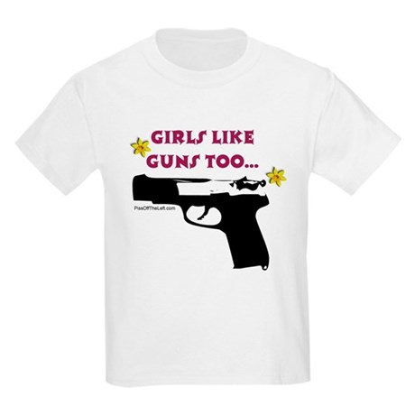 Girls like guns too Kids T-Shirt