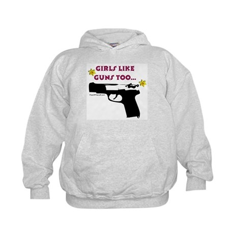 Girls like guns too Kids Hoodie