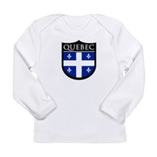 Quebec Flag Patch Long Sleeve Infant T-Shirt