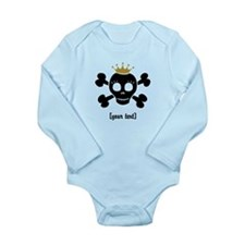 [Your text] Princess Skull Long Sleeve Infant Body