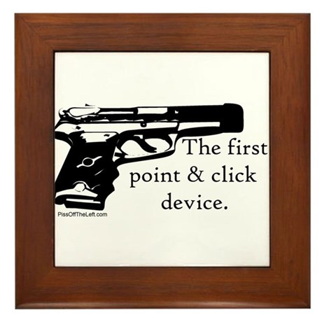 The first point & click device Framed Tile