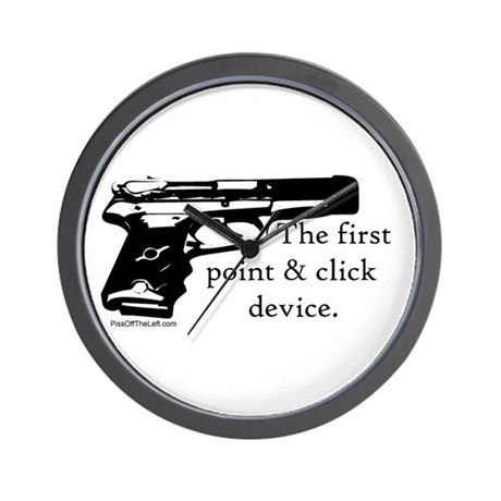 The first point & click device Wall Clock