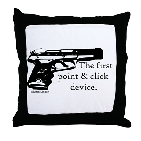 The first point & click device Throw Pillow