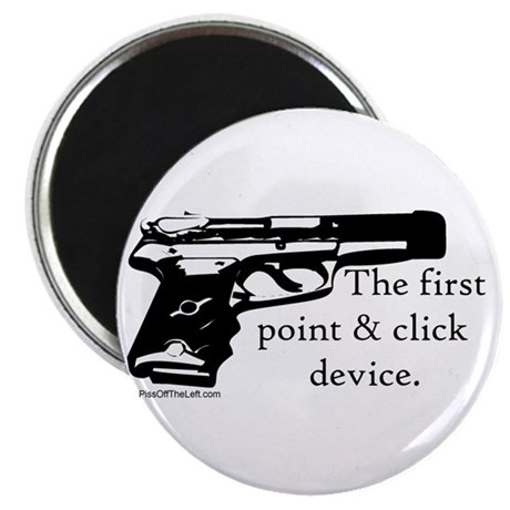 "The first point & click device 2.25"" Magnet (100 p"
