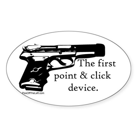 The first point & click device Oval Sticker