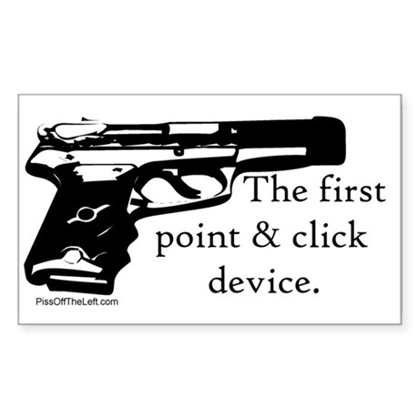 The first point & click device Sticker (Rectangula