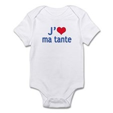 I Love Aunt (French) Onesie