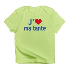 I Love Aunt (French) Infant T-Shirt