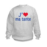 I Love Aunt (French) Sweatshirt